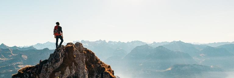 Gipfelaufstieg Klein